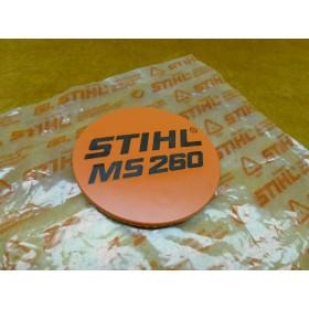NEU Original Stihl Typenschild MS 260 1121 967 1507 /...