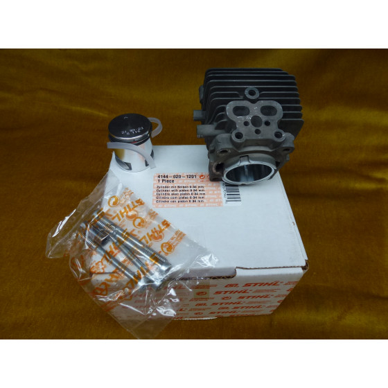 NEU Original Stihl FC 70 C FS 70 C Zylinder mit Kolben 34 mm 4144 020 1201 / 41440201201 / 4144-020-1201