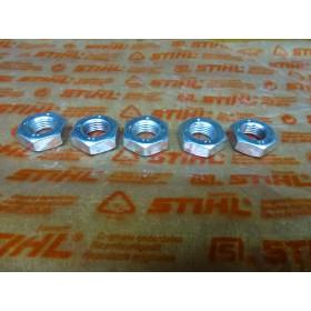 NEU Original Stihl 5x Mutter DIN936-M10x1LH-05 9211 260...