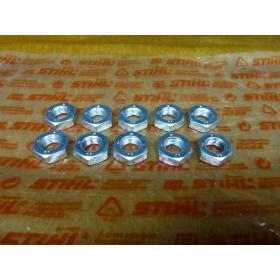 NEU Original Stihl 10x Mutter DIN936-M10x1LH-05 9211 260...