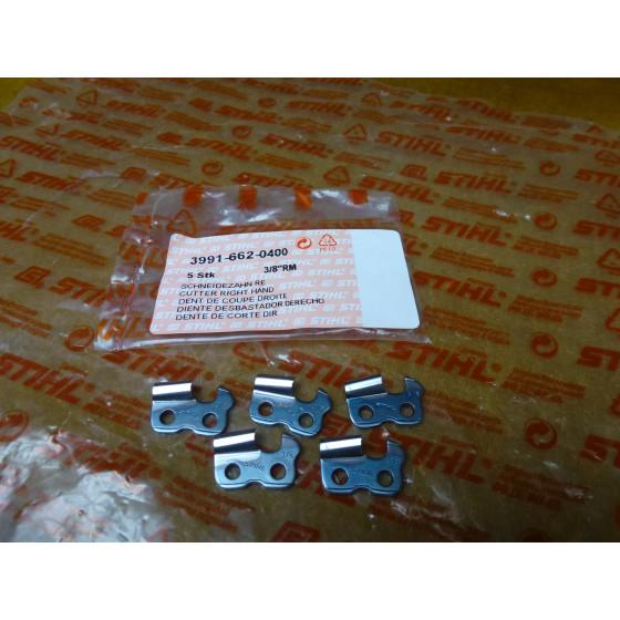 NEU Original Stihl 5x Schneidezahn re. 3/8  RM 3991 662 0400 / 39916620400 / 3991-662-0400
