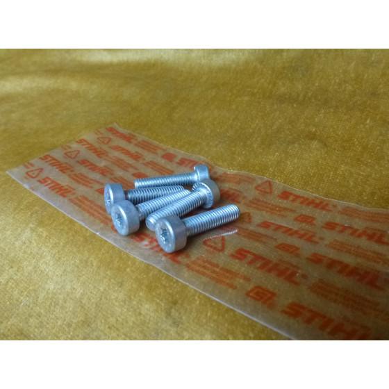 NEU Original Stihl 5x Schraube T27 IS-M6x25-10,9 9022 341 1350 / 90223411350 / 9022-341-1350