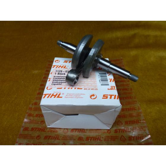 NEU Original Stihl 020T 020 MC 200 MS 200 MS 200T Kurbelwelle 1129 030 0400 / 11290300400 / 1129-030-0400